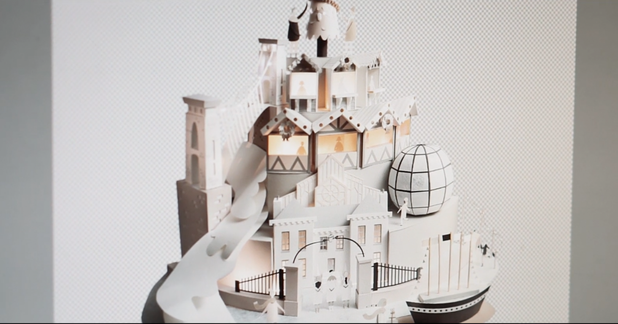Sam Pierpoint Creates Magical Campaign Promoting Christmas in Bristol Crafted in Paper