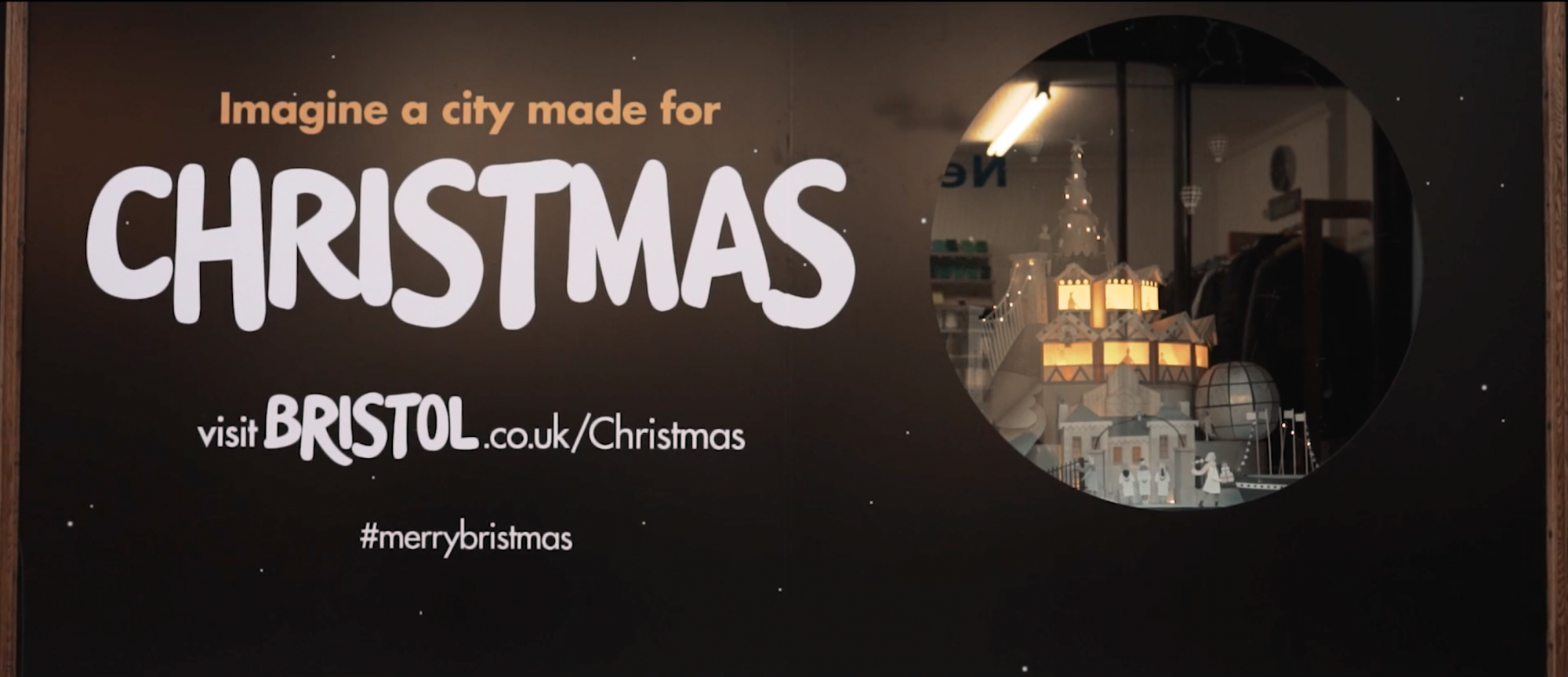 Sam Pierpoint Creates Magical Campaign Promoting Christmas in Bristol Crafted in Paper - Window Display