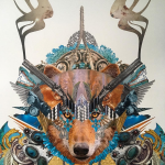 Artist Jacob Intilé Creates Psychedelic Collaged Animal Portraits from Another Dimension