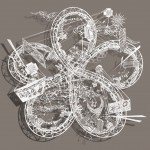 New Intricate Miniature Worlds in Cut Paper by Bovey Lee - Flower Knot Windmill Glider