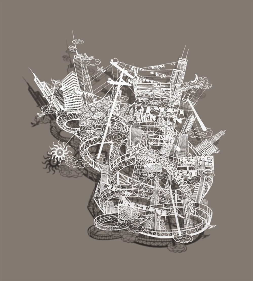New Intricate Miniature Worlds in Cut Paper by Bovey Lee - Star Catcher