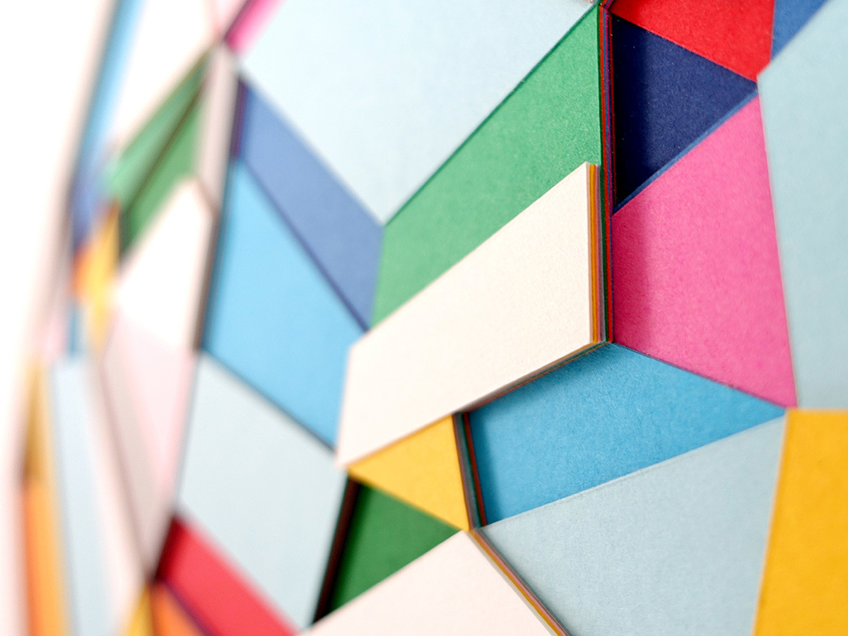 Huntz Liu Creates Geometric Paper Reliefs Reminiscent of Cut Diamonds - Color 2