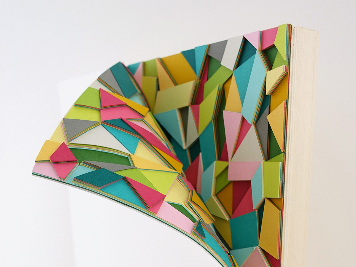 Huntz Liu Creates Geometric Paper Reliefs Reminiscent of Cut Diamonds - Curl 1