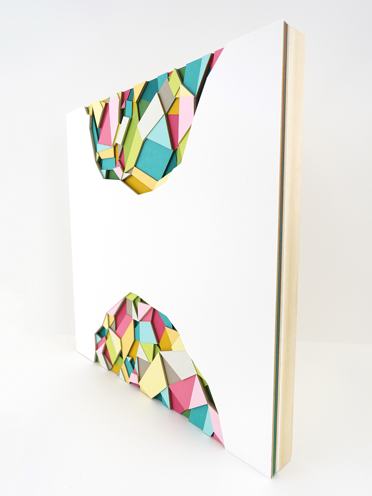 Huntz Liu Creates Geometric Paper Reliefs Reminiscent of Cut Diamonds - Portal