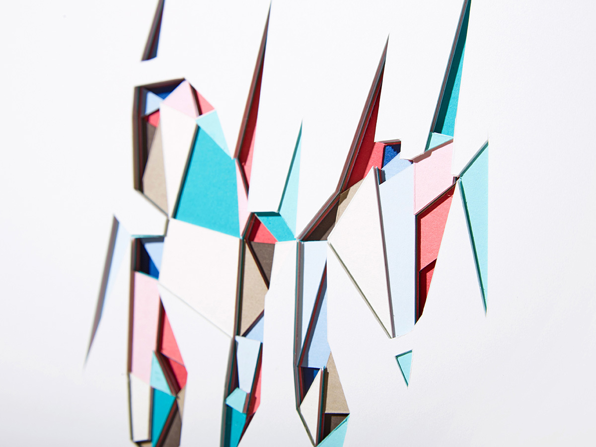 Huntz Liu Creates Geometric Paper Reliefs Reminiscent of Cut Diamonds - Sea