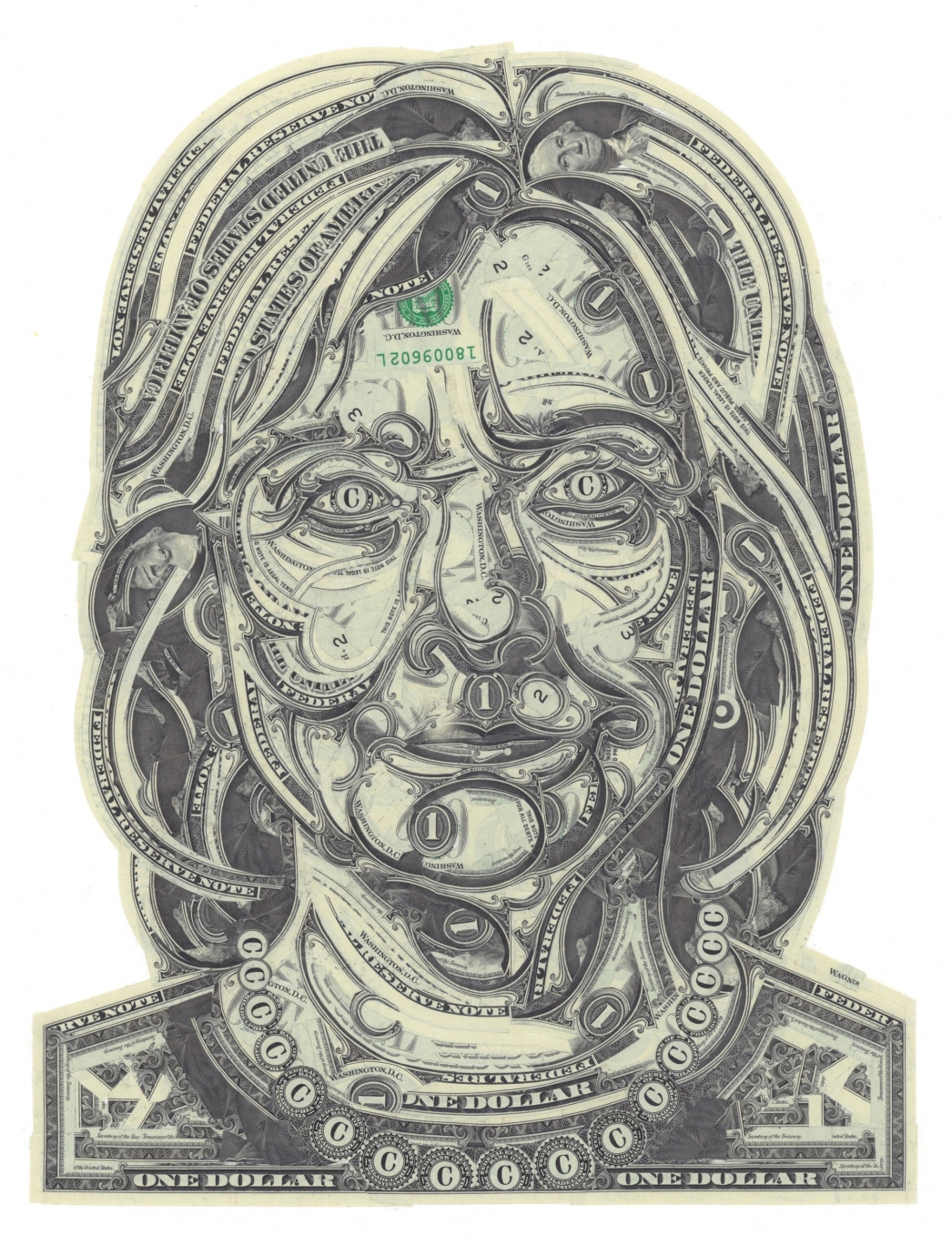 Meticulously Handcrafted Political Currency Collages by Mark Wagner