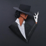 The Many Faces of Michael Jackson, a Tribute in Paper by Belinda Rodriguez - Billie Jean