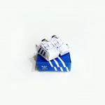 Artist Creates Well-Known Products as Minimal Origami Miniatures - Adidas Shoes