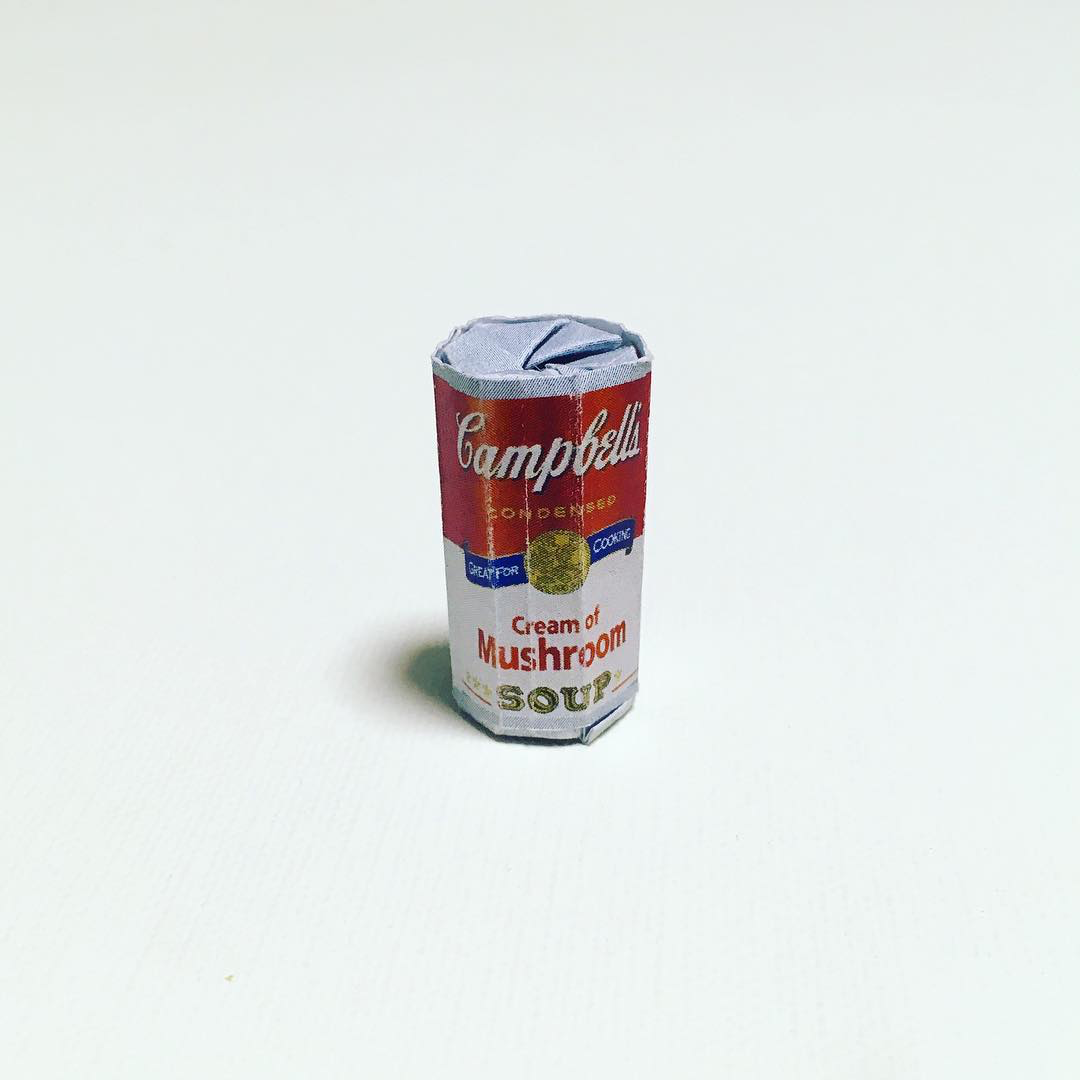 Artist Creates Well-Known Products as Minimal Origami Miniatures - Campbell's Soup