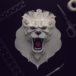 Patrick Cabral Explores The Animal Form Through Delicate Layered Papercuts - Lion