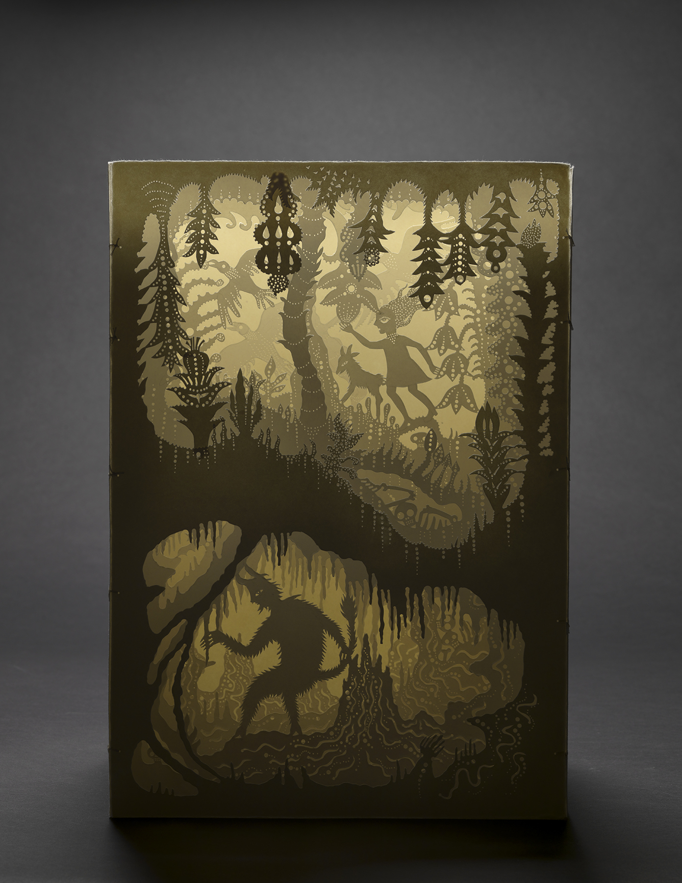 Deep Cuts: Contemporary Paper Cutting - Andrea Deszo | Forest Stroll with Goat