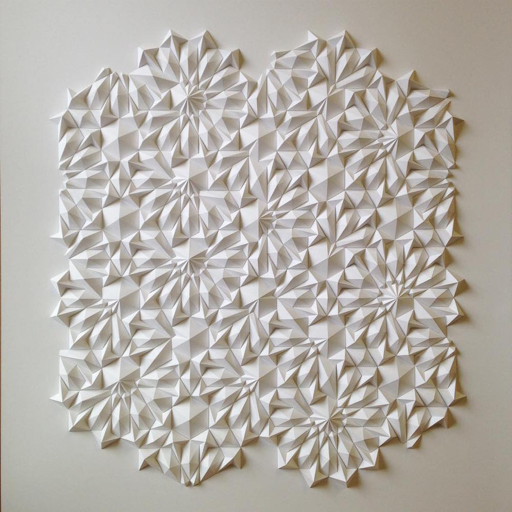 New Mesmerizing Geometric Paper Sculptures from Matthew Shlian