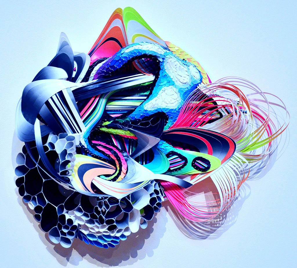 Crystal Wagner Creates Undulating Otherworldly Neon Paper Sculptures For London Exhibition