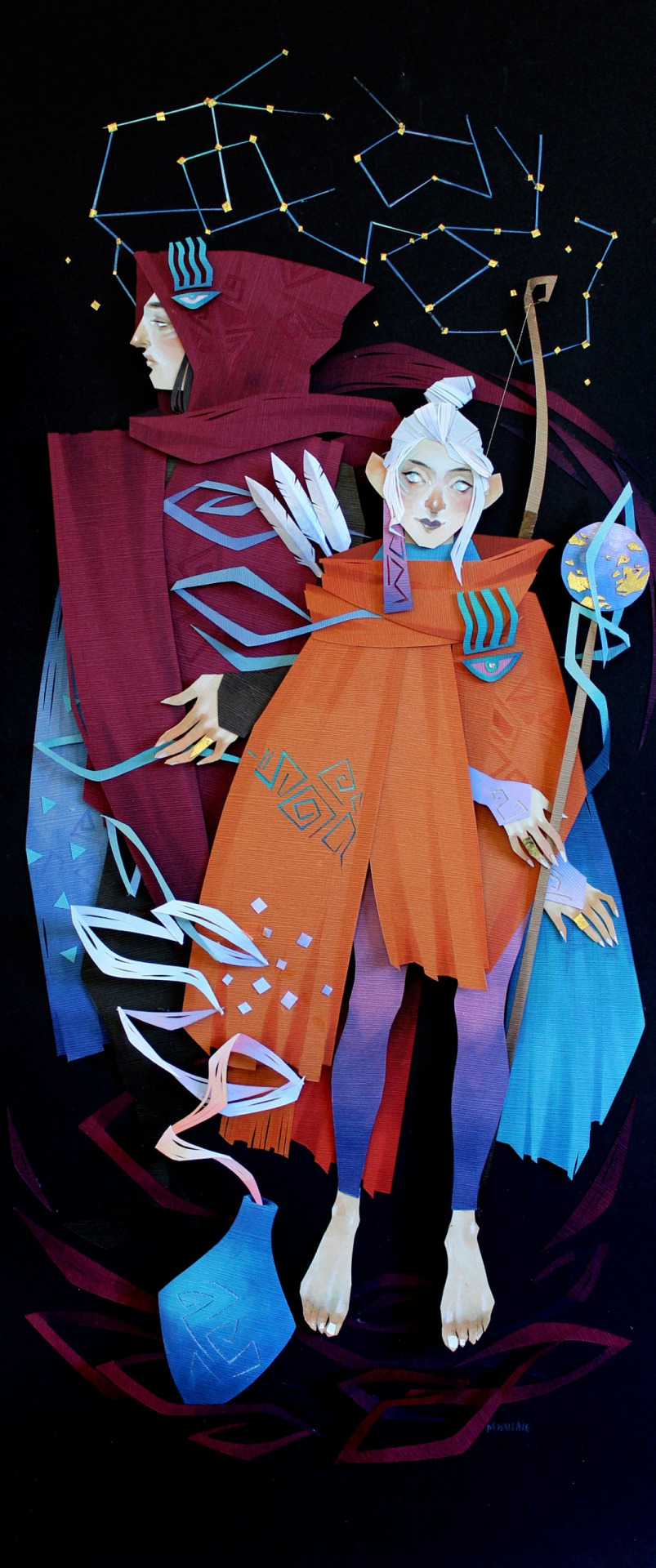 Vibrant Mythical Scenes in Cut Paper Collage by Morgana Wallace