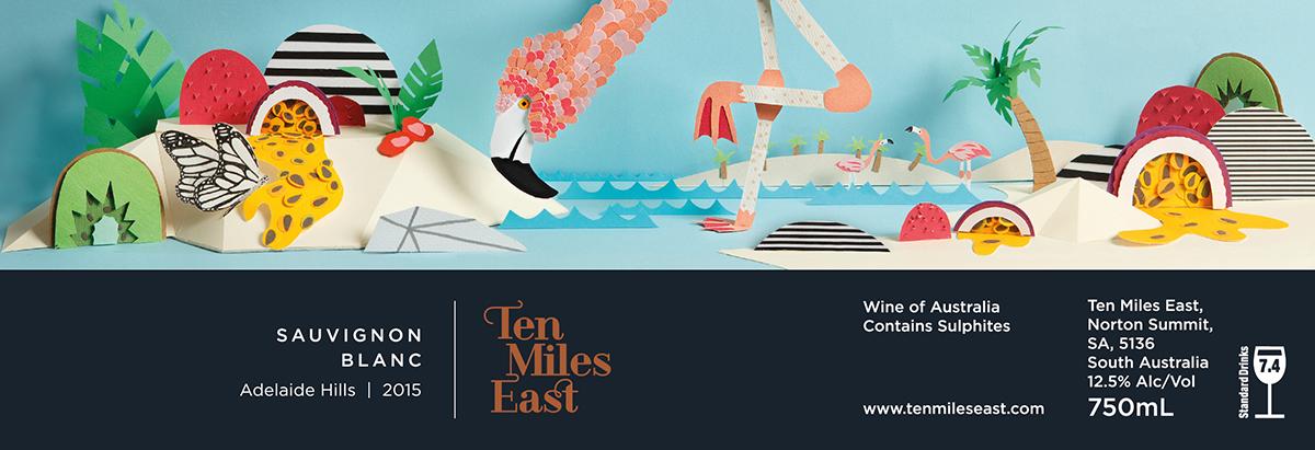 Interview with Paper Artist Sam Pierpoint - Ten Miles East Sauvignon Blanc