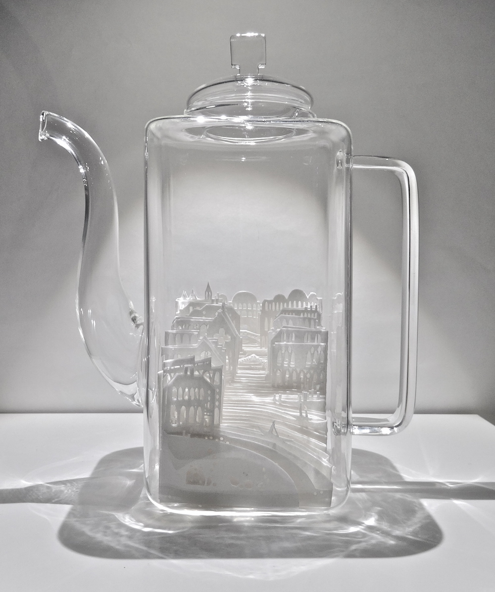 Paper Cities Enclosed in Glass by Ayumi Shibata