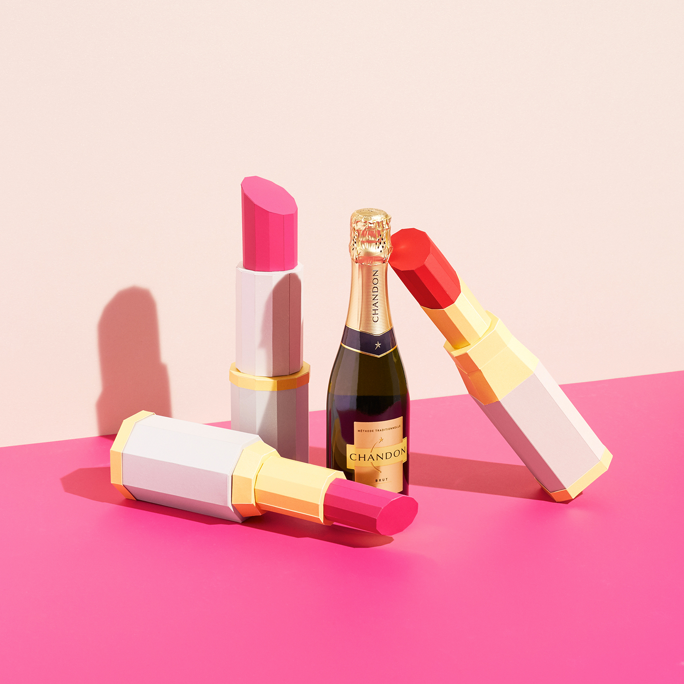 Bold and Colorful Advertising Campaign for Chandon in Paper By REVERBERE