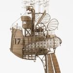 Astounding Cardboard Airships by Jeroen van Kesteren