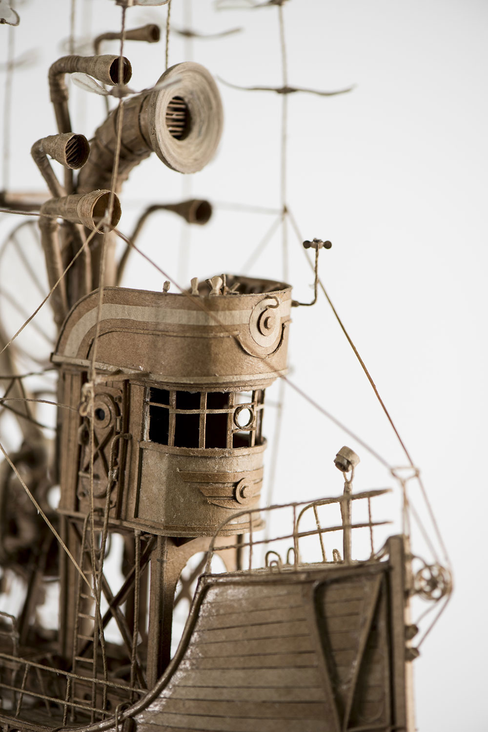 An Astounding Series of Airships Handcrafted in Cardboard by Jeroen van Kesteren