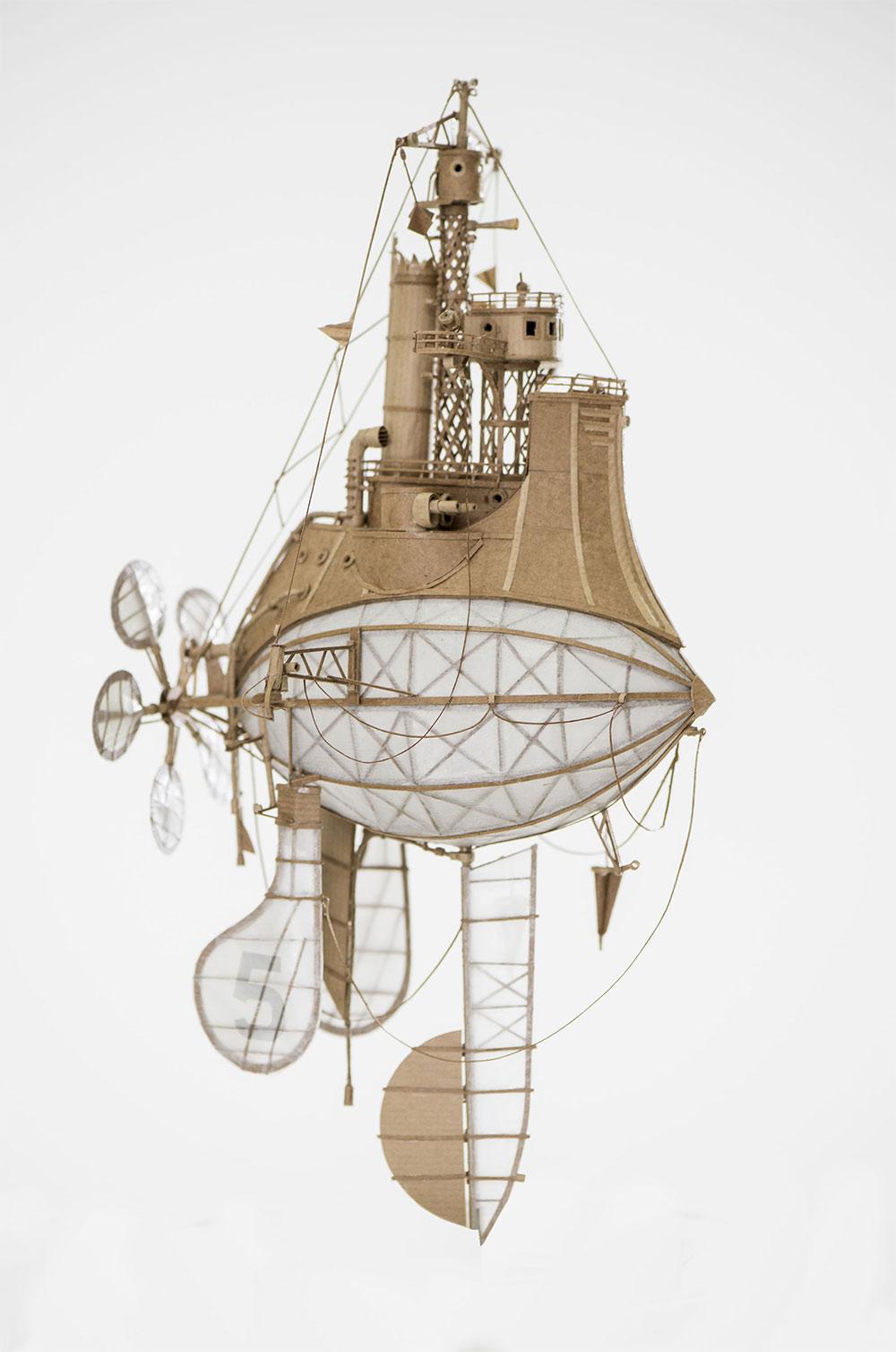 An Astounding Series of Airships Handcrafted in Cardboard by Jeroen van Kesteren