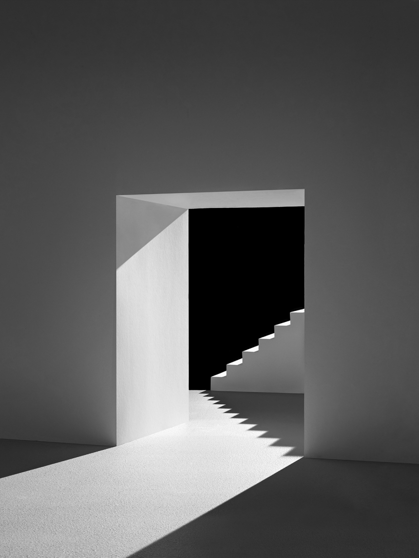 Real Architecture Buildings shadow spaces: miniature architecture handcrafted from paper looks