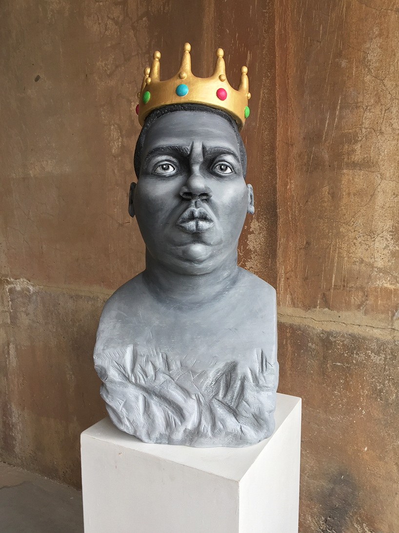Felix Semper Creates Stretching Paper Sculpture of Notorious B.I.G.
