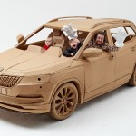 British Designer Liam Hopkins Creates A Full-Sized Cardboard Car For ŠKODA