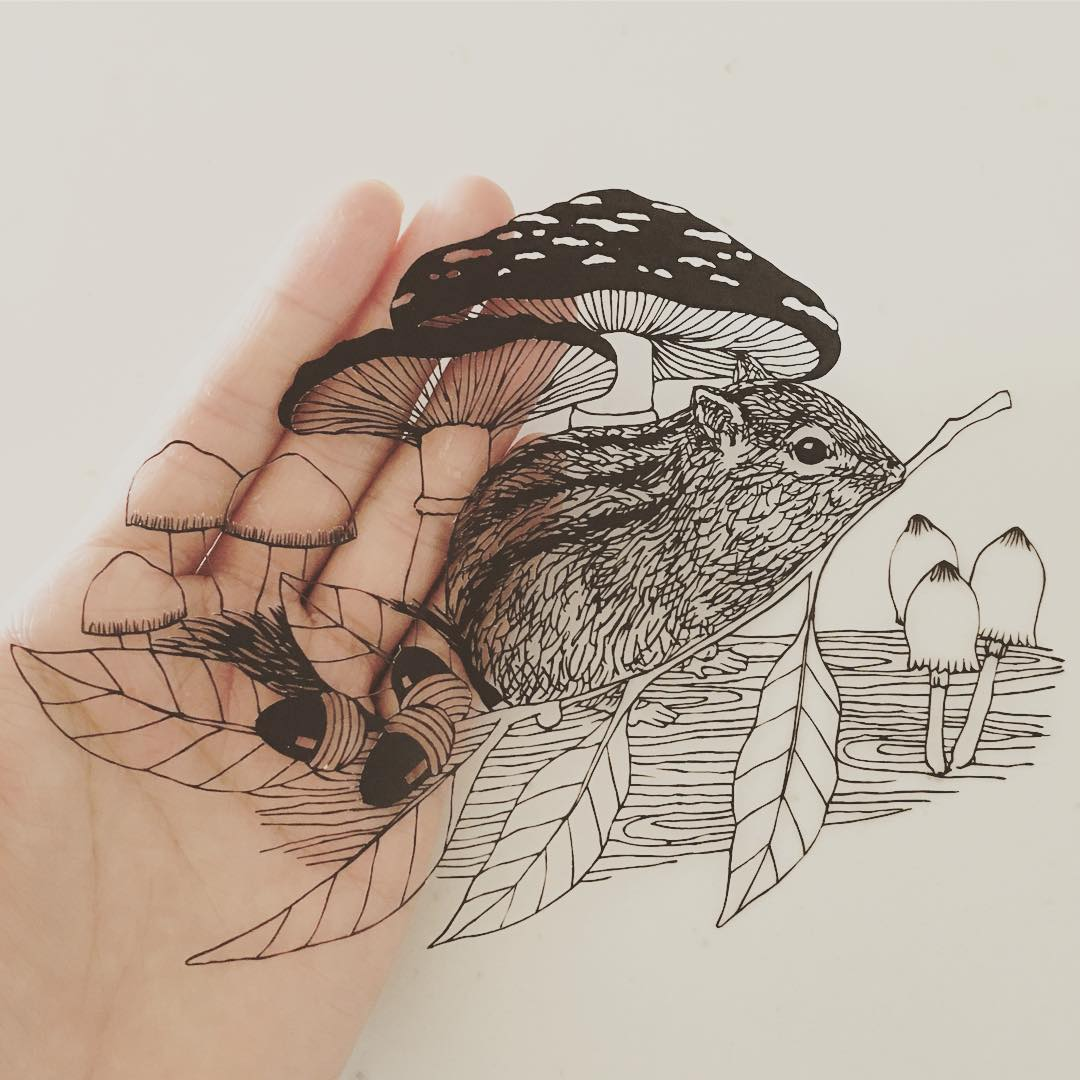 Finely Cut Paper Art Looks Like Beautifully Inked Illustrations