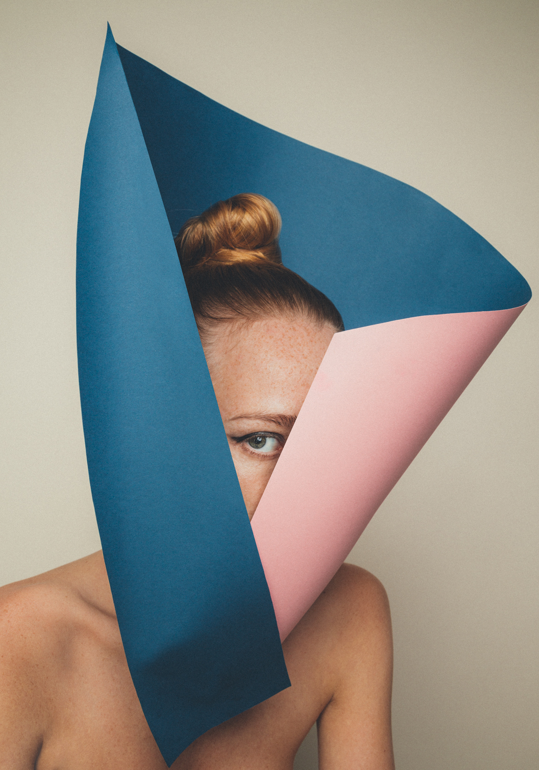Kristoffer Marchi Creates Playful Portraits in Minimal Paper