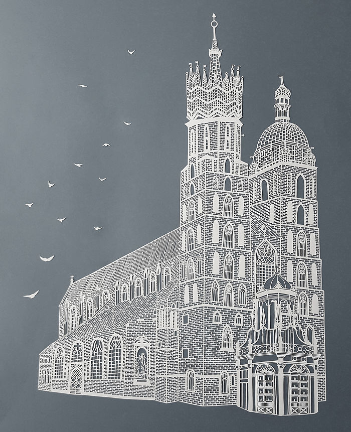 Pippa Dyrlaga's Intricate Hand-Cut Paper Artwork Inspired By Nature And Architecture
