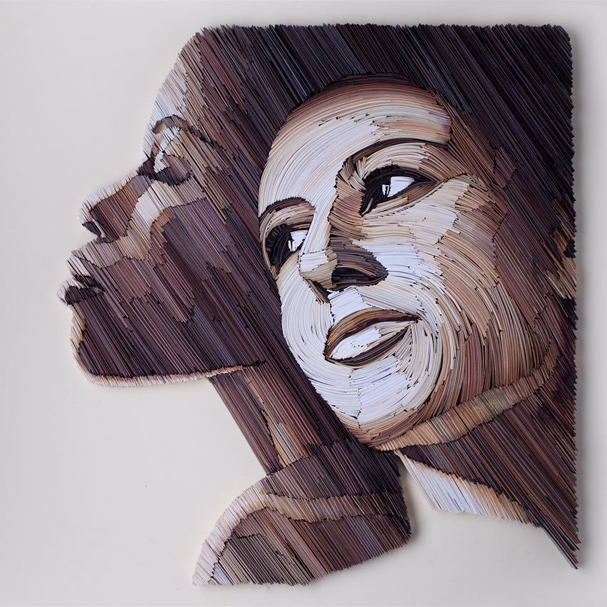 New Densely Quilled Color Blocks Reveal Powerful Portraits of Women by Yulia Brodskaya