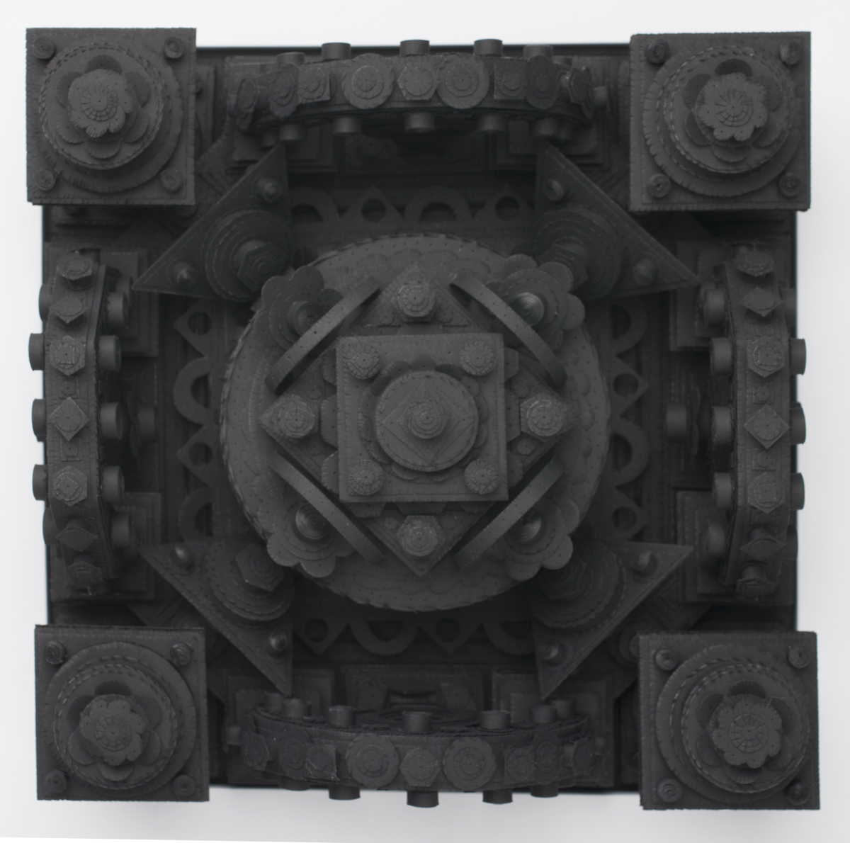 Michael Velliquette Creates Three-Dimensional Monochrome Mandalas from Cut Paper