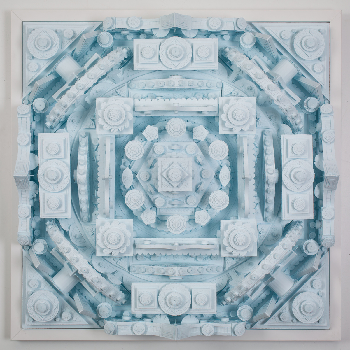 Michael Velliquette Creates Three-Dimensional Monochrome Mandalas from Cut Paper