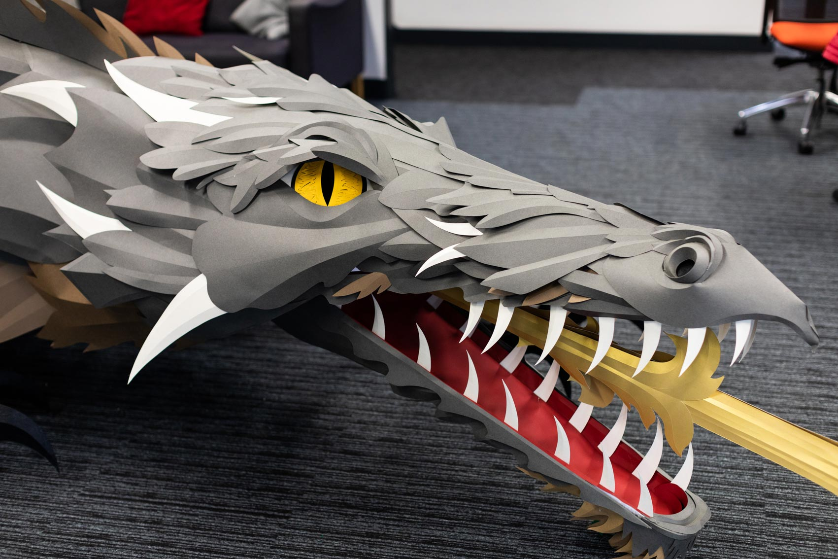 Viking Direct Gears up for 'Game of Thrones' Premiere with a Giant Fire-Breathing Dragon Made of Paper by Andy Singleton